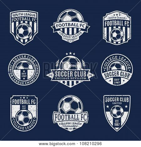 Set Of Soccer Football Club Labels