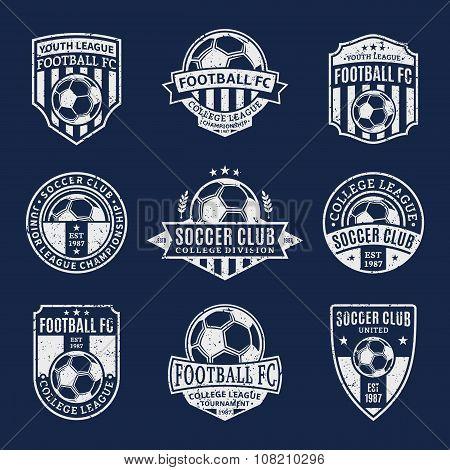 Set Of Soccer Football Club Labels