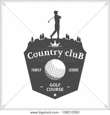 Golf Country Club Label