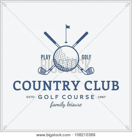 Golf Country Club Label
