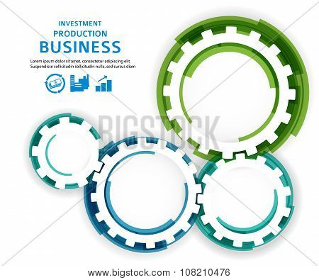 Business Investment Concept Brush Effect It Draw Gear
