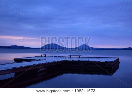 Sunrise over Moosehead Lake