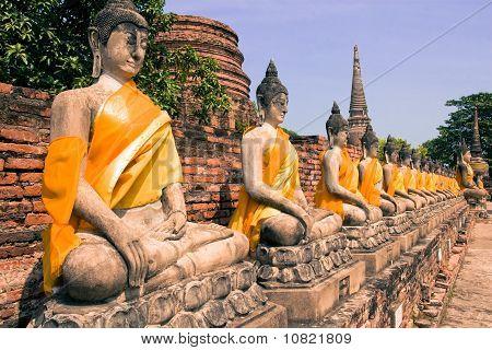Buddha at Wat Ayudhaya Thailand,
