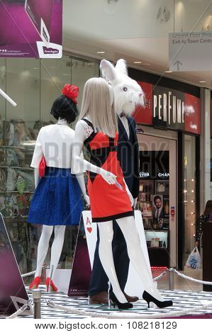 Alice In Wonderland Mannequins