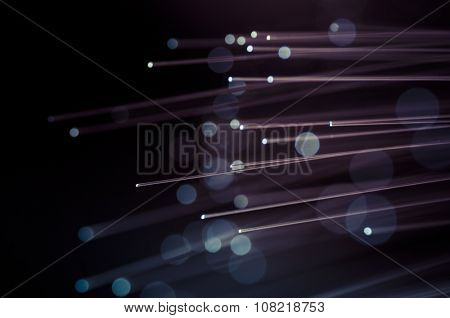 Luminosity, Fiber optic cables, fibre connection, telecomunications concept.