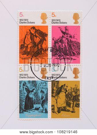 British Mail Stamps Celebrating Charles Dickens