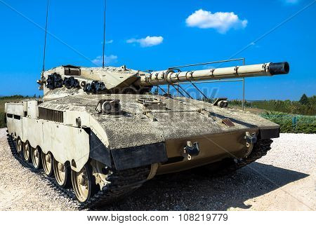 Israel Made Main Battle Tank Merkava  Mk I. Latrun, Israel