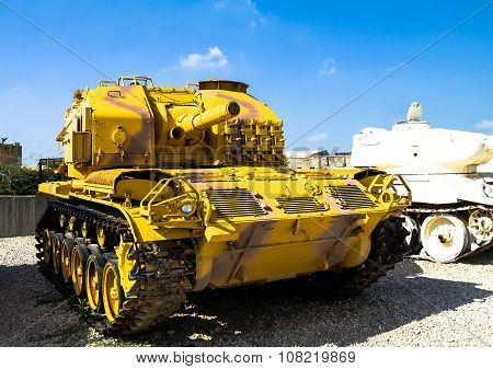 Old Us  M52 Self Propelled Gun Captured By Idf. Latrun. Israel