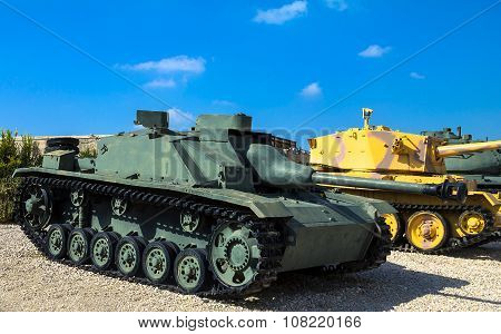 German Made Tank Destroyer Sturmgeschutz Iii Captured By Idf From Syrian Forces In 1967 . Latrun, Is