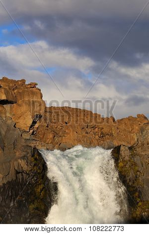 Aldeyjarfoss Waterfall in Northern Husavik Area Iceland