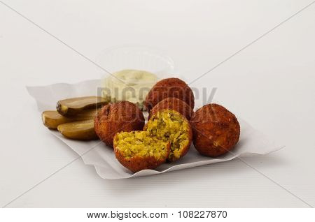Dietetic Falafel On A Plate