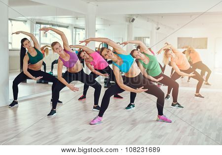 Aerobics Class At A Gym