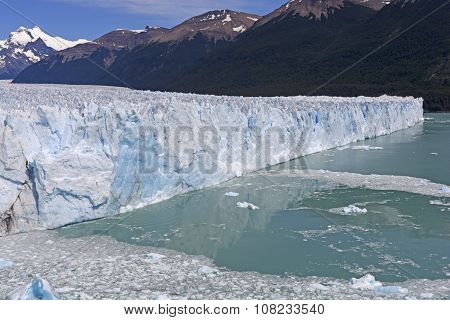 Oblique View Of An Alpine Glacier