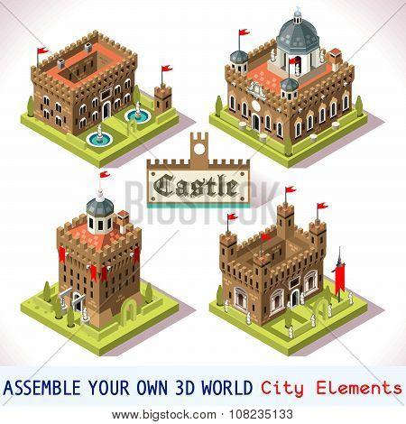 Castle 01 Tiles Isometric