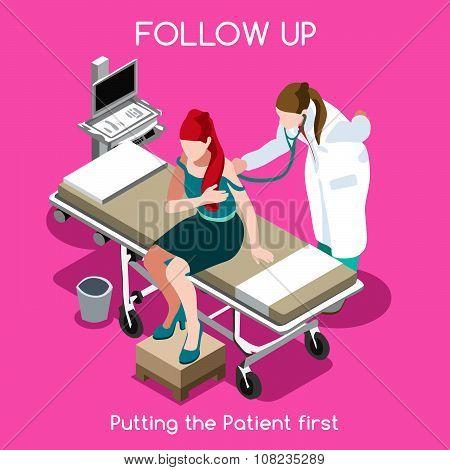 Hospital 16 People Isometric