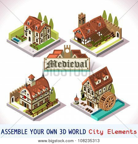 Medieval 01 Tiles Isometric