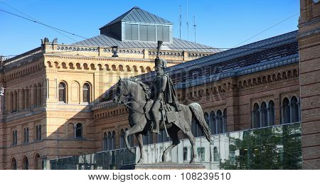 Statue Of Ernest Augustus I In Hannover, Germany