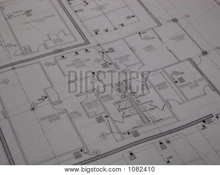 Office Interior Blueprint
