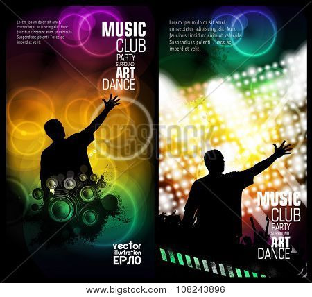 Music backgrounds ready for poster or banner
