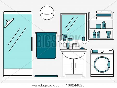 Bathroom. Modern bathroom interior design.
