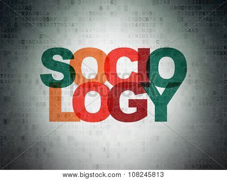 Learning concept: Sociology on Digital Paper background
