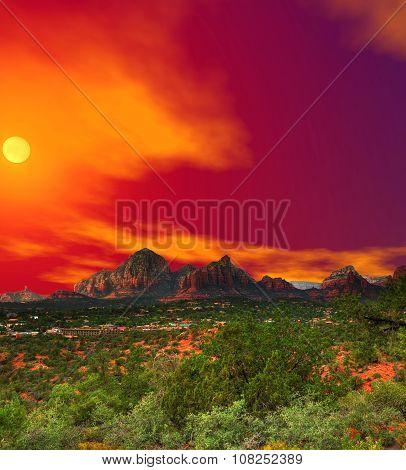 Sunset Sedona Arizona