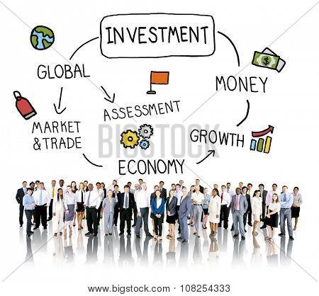 Investment Money Assessment Economy Market Trade Concept poster