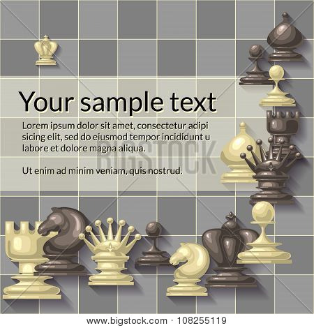 Vector illustration of chess pieces.