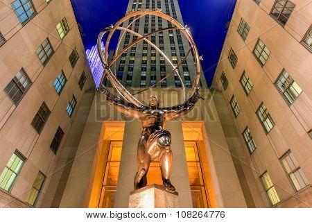 Atlas Statue - Rockefeller Center, New York City