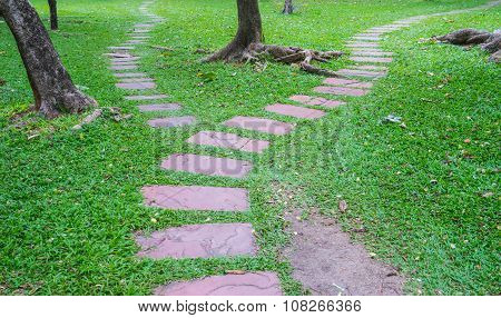 Stone Pathway With Seperation At The End