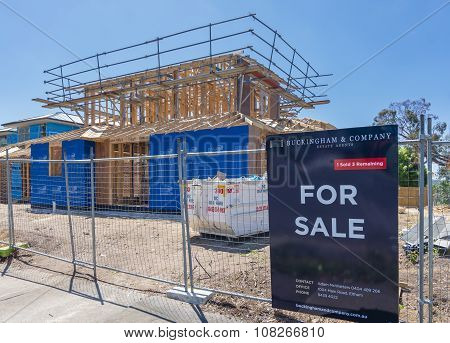 New houses under construction for sale