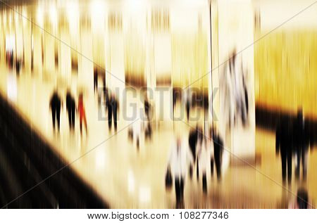 Business Passenger Walk At Subway Station