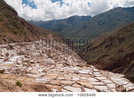 Ancient Salt Basins Used Since The Times Of The Incas At Maras, Peru