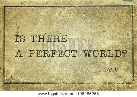 Perfect World Plato