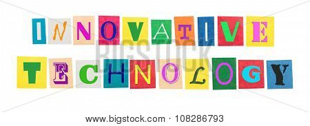 the word innovative technologies