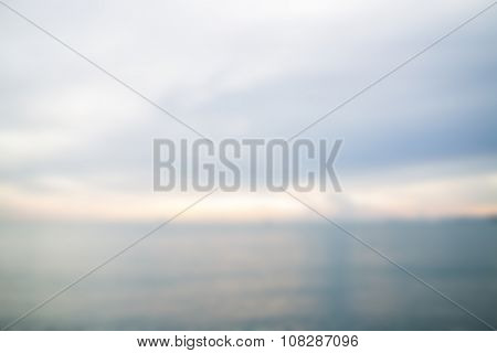 Abstract Blur Background From Sea