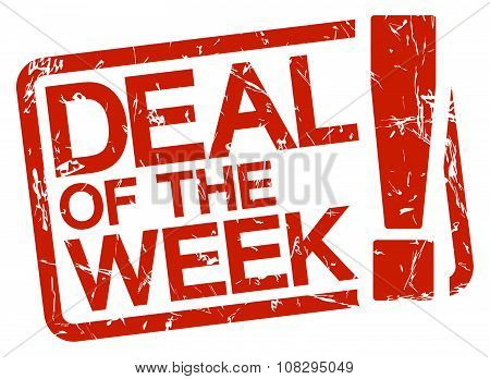 Red Stamp With Text Deal Of The Week