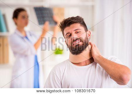 Injury Man In Doctor