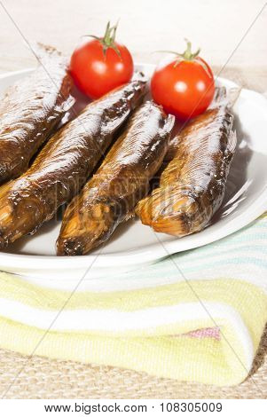 Hot Smoked Whitefish On A Plate