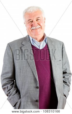 Jovial Relaxed Attractive Senior Man
