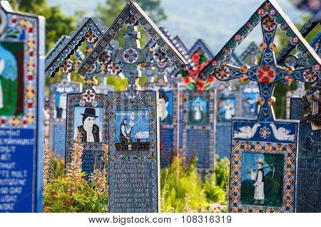 Sapanta,romania - 04 July, 2015- The Merry Cemetery Of Sapanta, Maramures, Romania. Those Cemetery I