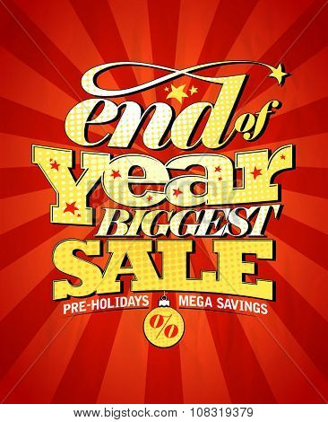 End of year biggest sale design, rasterized version. poster
