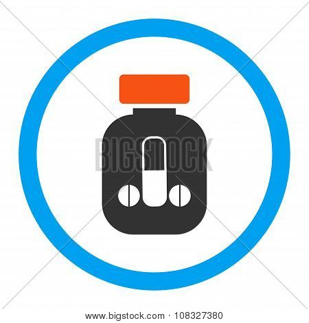 Male Medicine glyph icon. Style is flat rounded symbol, bright colors, rounded angles, white background. poster