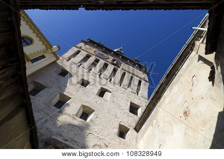 Sighisoara- Walls Of The Clock Tower