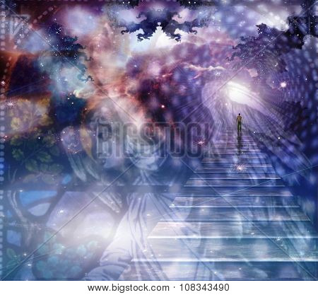 Angel and heavenly composition poster