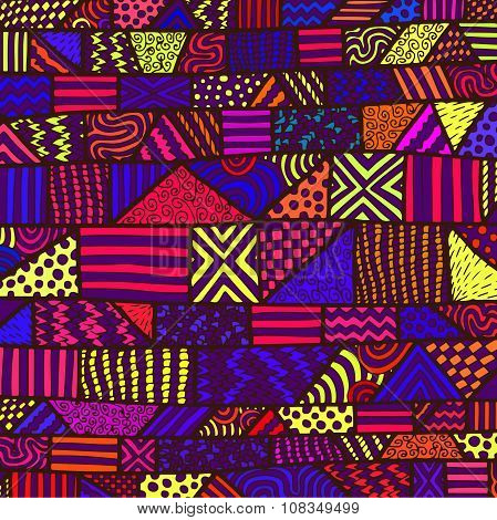 Zentangle Lines Color Background 12