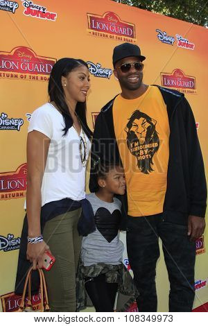 LOS ANGELES - NOV 14:  Candace Parker, Lailaa, Shelden Williams at the