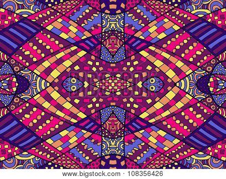 Zentangle Ethnic Background Colorful 2