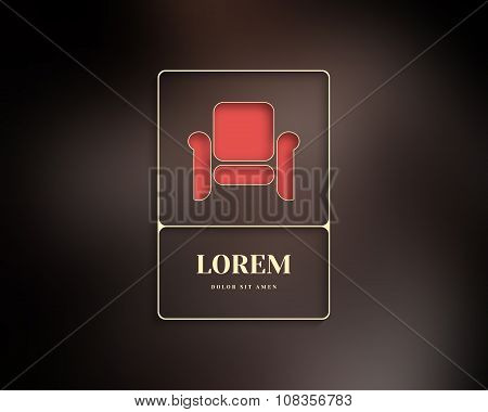 Abstract Vector Logo Furniture Design Template