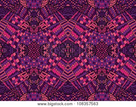 Zentangle Ornament Retro Background 1